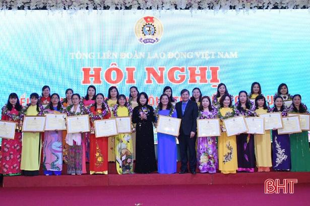 Cán bộ công đoàn Hà Tĩnh được vinh danh nữ công tiêu biểu toàn quốc