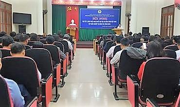 Các CĐN: Phối hợp tổ chức Hội nghị học tập, quán triệt Nghị quyết Đại hội XII CĐ Việt Nam và tập huấn nghiệp vụ cho cán bộ CĐ