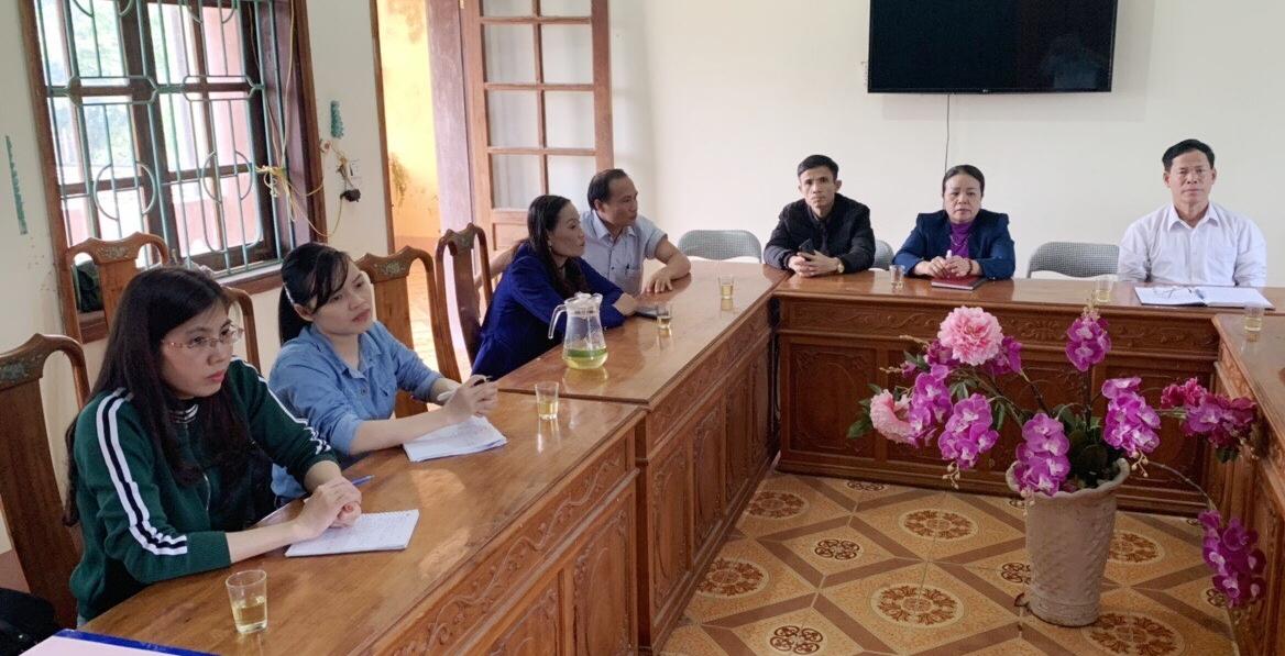 Hương Khê: khảo sát, nắm bắt tình hình đời sống, việc là của cán bộ, đoàn viên tại xã Hương Liên