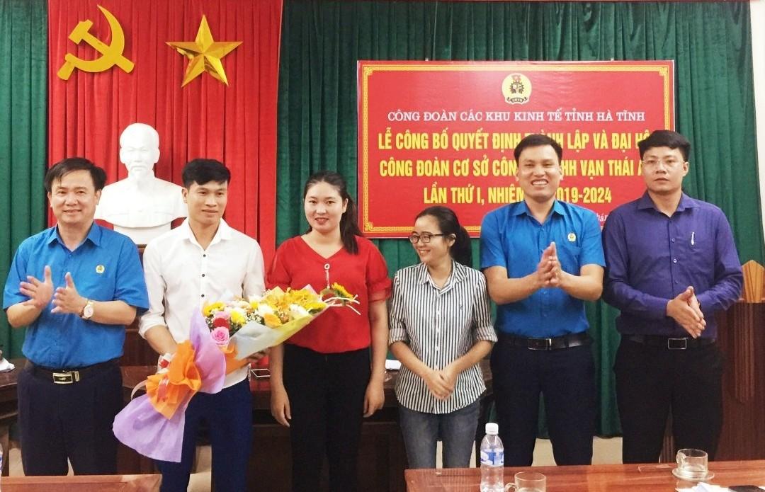 CĐ các Khu kinh tế tỉnh: Ra mắt và Đại hội CĐCS Công ty TNHH Vạn Thái An