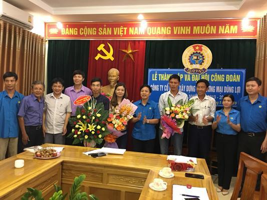 Hương Sơn: Lễ thành lập và Đại hội công đoàn công ty Cổ phần xây dựng và thương mại Dũng Lợi