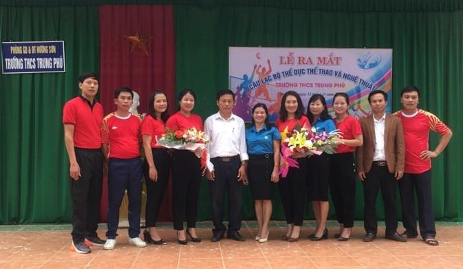 Hương Sơn: Ra mắt Câu lạc bộ Thể dục thể thao và nghệ thuật