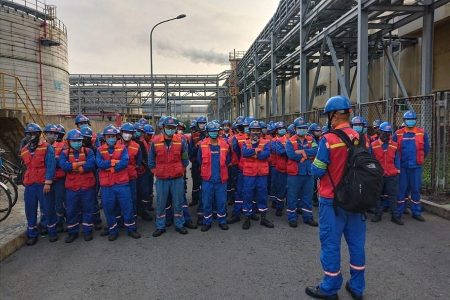 Nghiêm túc phòng dịch cho công nhân ở Khu Kinh tế Vũng Áng