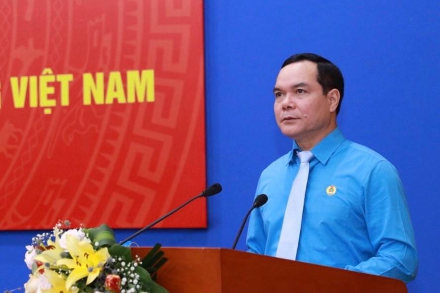 Chủ tịch Tổng LĐLĐ VN Nguyễn Đình Khang: Dành nguồn lực để chăm lo, hỗ trợ, bảo vệ đoàn viên và người lao động
