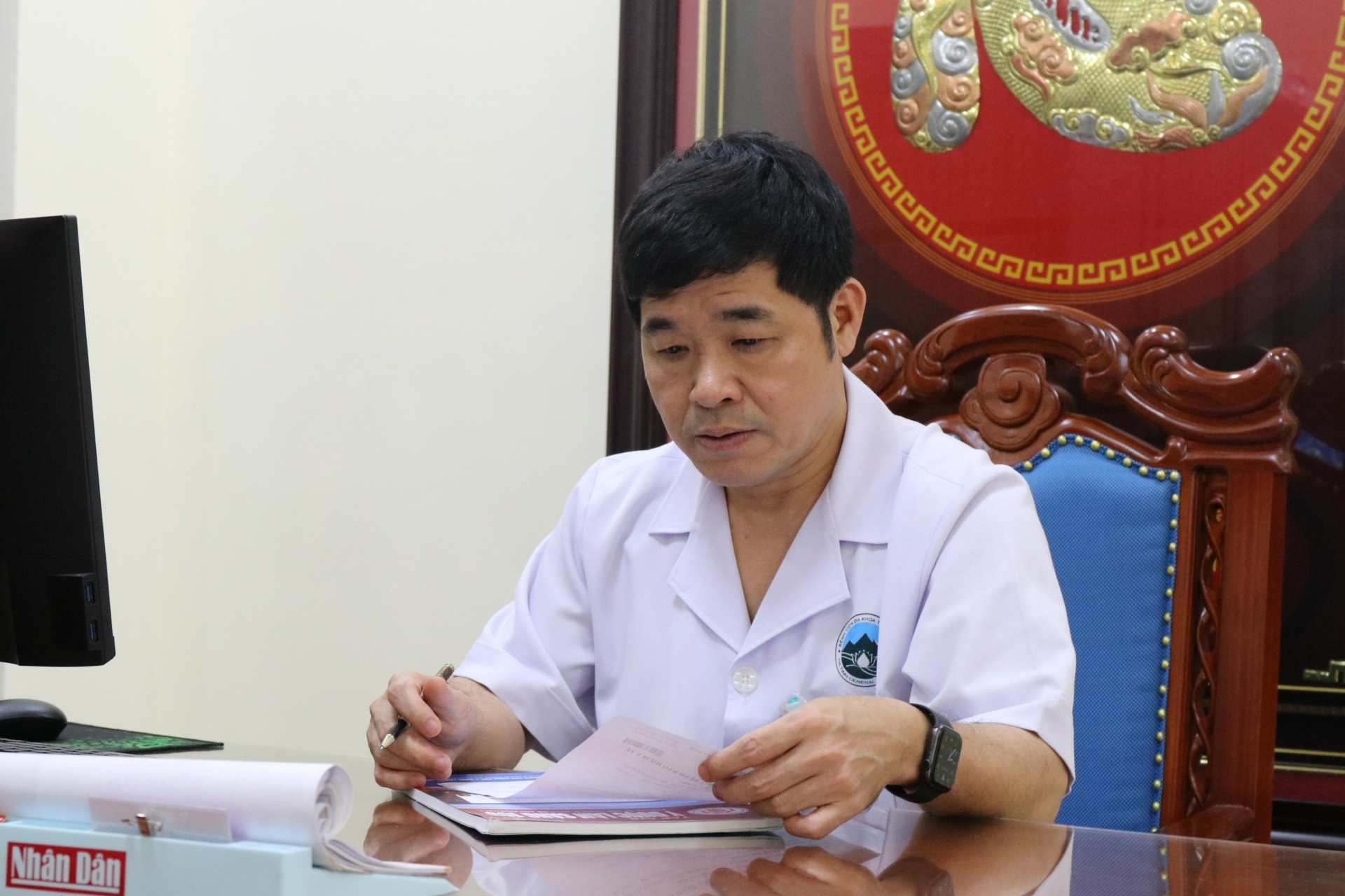 Bác sĩ Hoàng Quang Trung - điển hình học tập và làm theo gương Bác