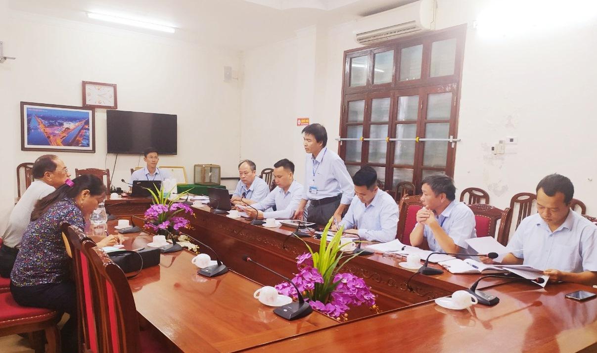 CĐ các Khu kinh tế tỉnh: Làm việc với Công ty TNHH Dịch vụ bốc dỡ hàng hóa Vỹ Hùng