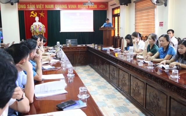 CĐN Y tế: Tập huấn nghiệp vụ cho cán bộ Công đoàn cơ sở