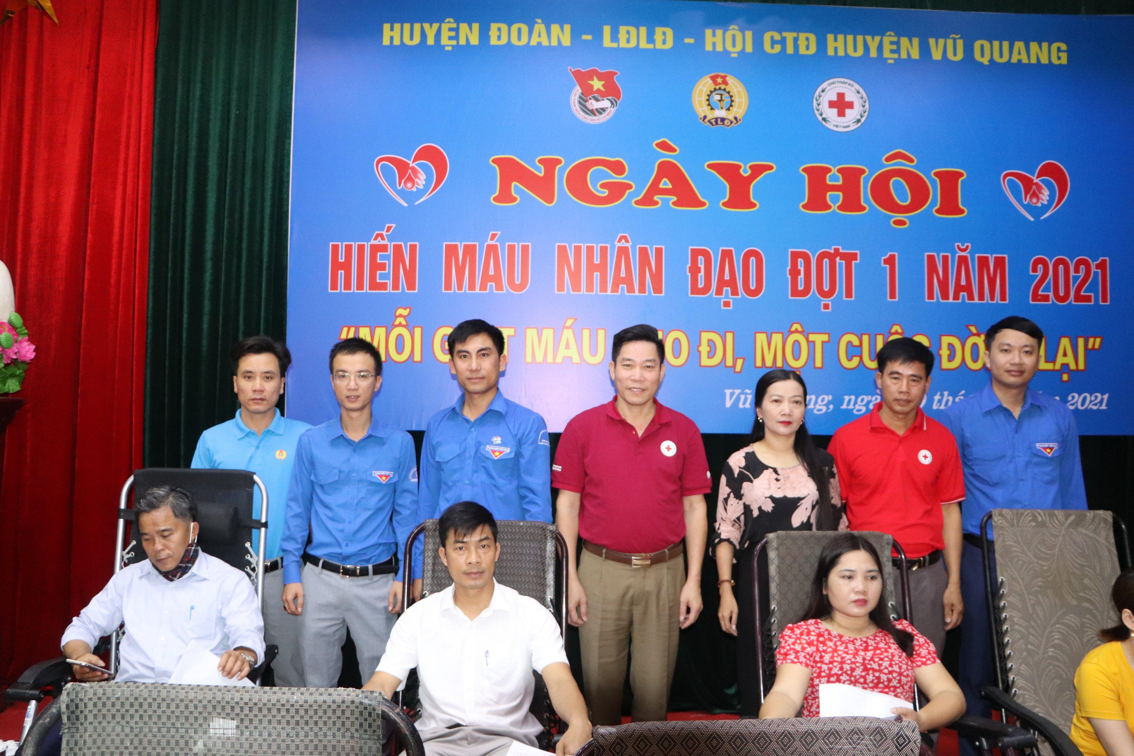 Vũ Quang: Phối hợp tổ chức hiến máu tình nguyện