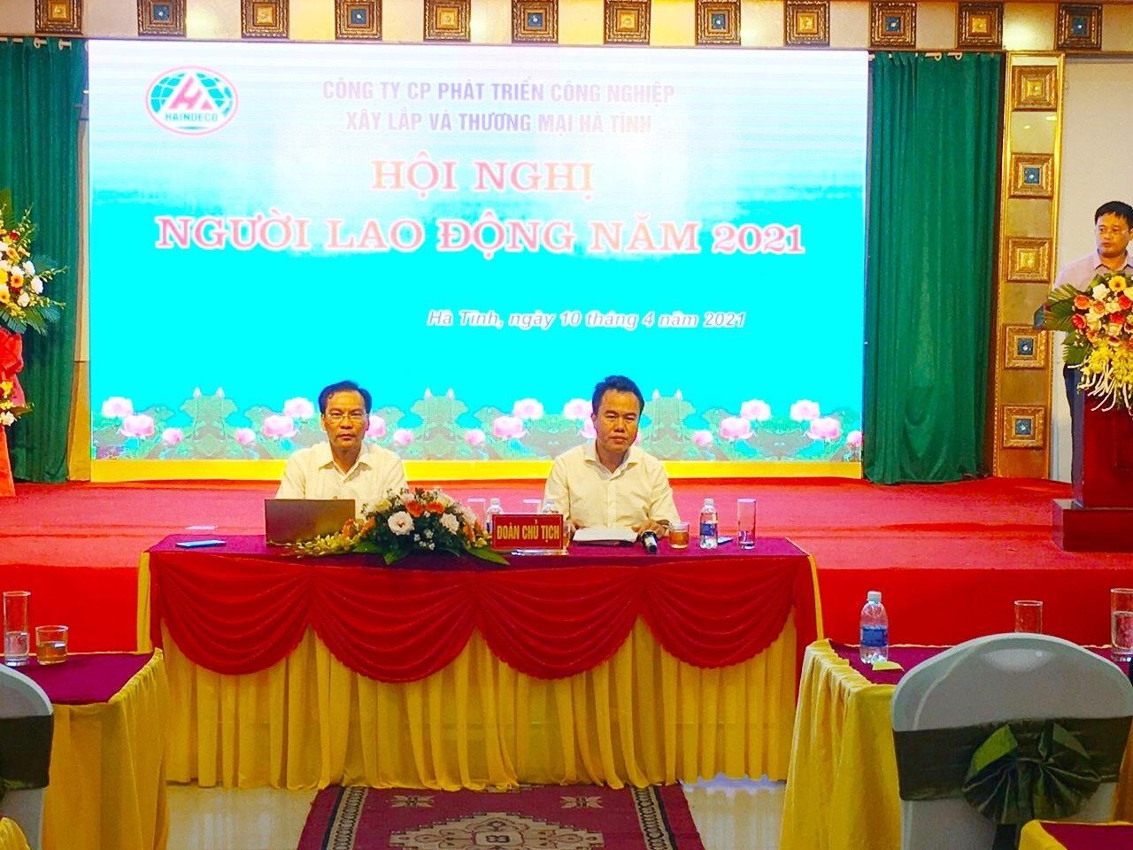Hội nghị Người lao động tại Công ty CP Phát triển CN, XL&TM Hà Tĩnh