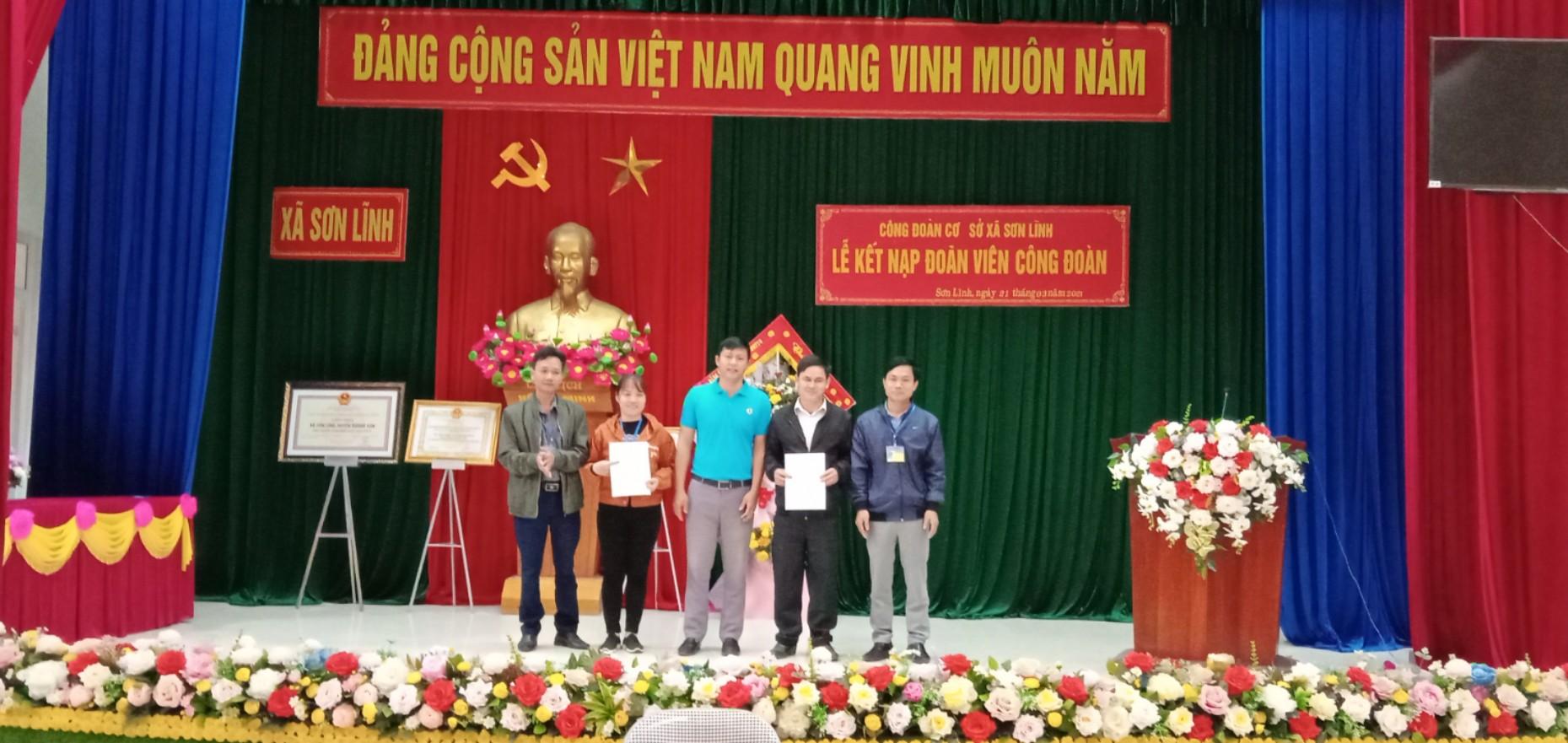 Công đoàn cơ sở xã Sơn Lĩnh: Nhiều hoạt động thiết thực hưởng ứng Tháng Công nhân năm 2021.