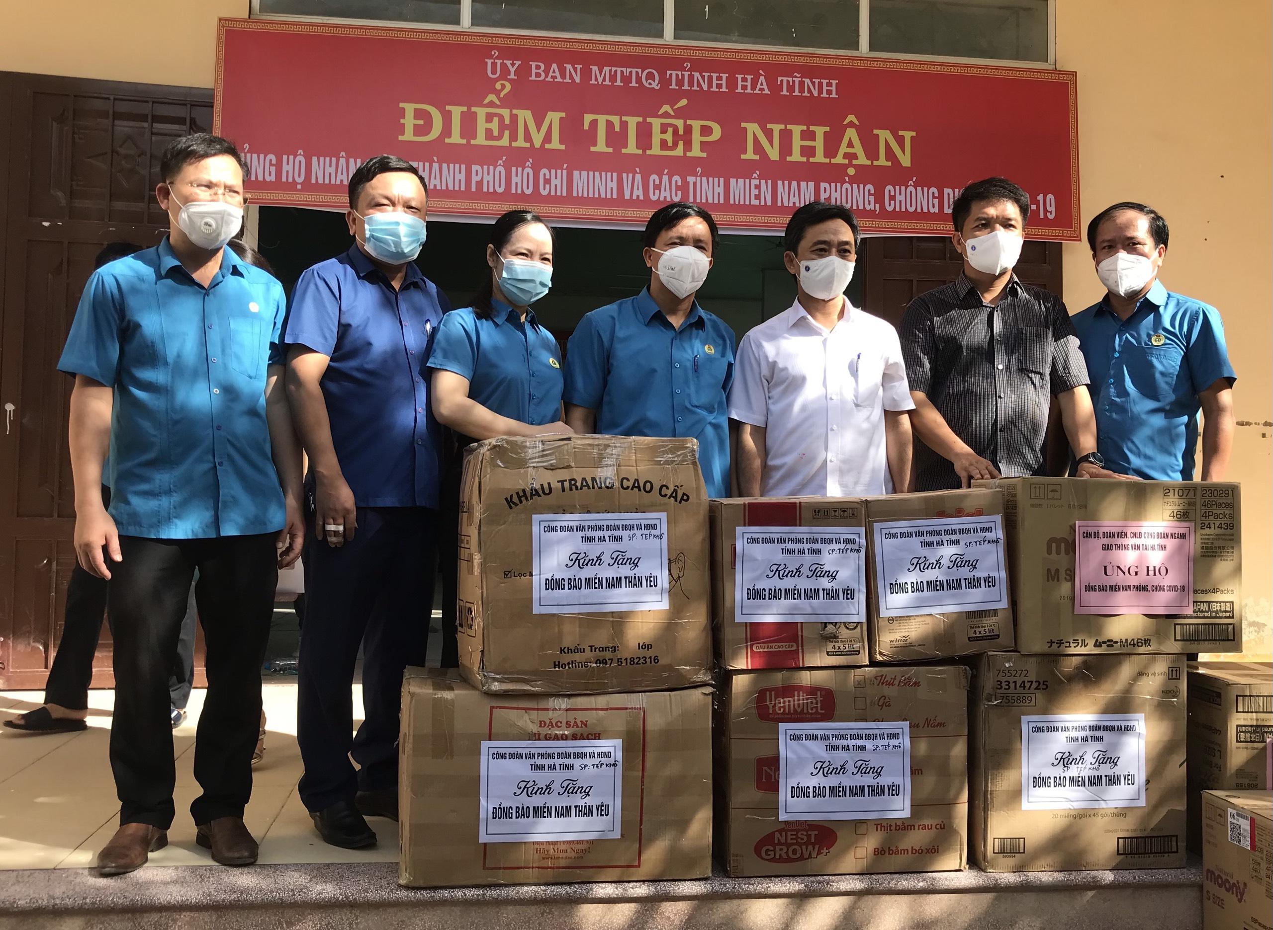 Các công đoàn ngành tích cực vận động, hỗ trợ đồng bào các tỉnh phía Nam và TP Hồ Chí Minh