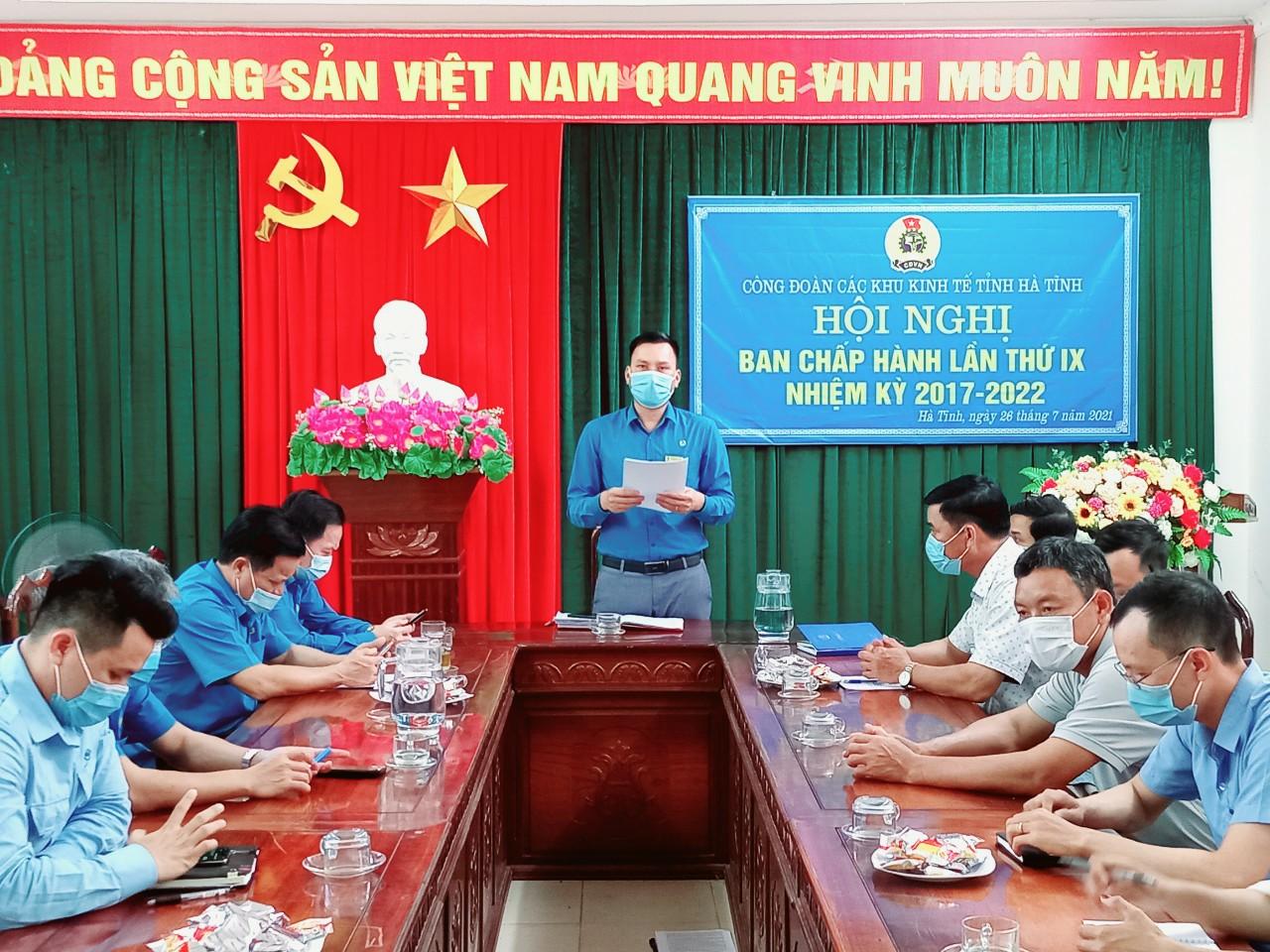 Công đoàn các KKT tỉnh: Tổ chức Hội nghị Ban Chấp hành lần thứ IX