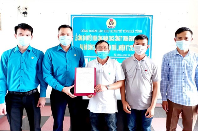 Công đoàn các KKT tỉnh Hà Tĩnh kết nạp thêm 850 đoàn viên