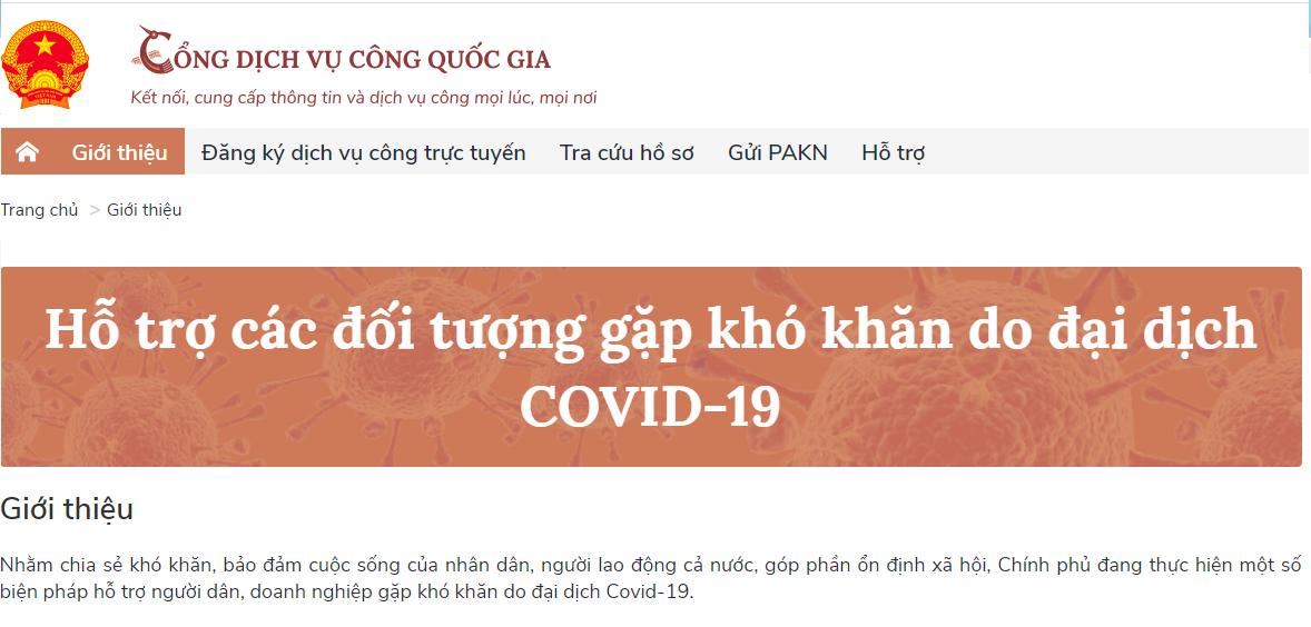 5 dịch vụ công trực tuyến hỗ trợ lao động, doanh nghiệp khó khăn do dịch COVID-19