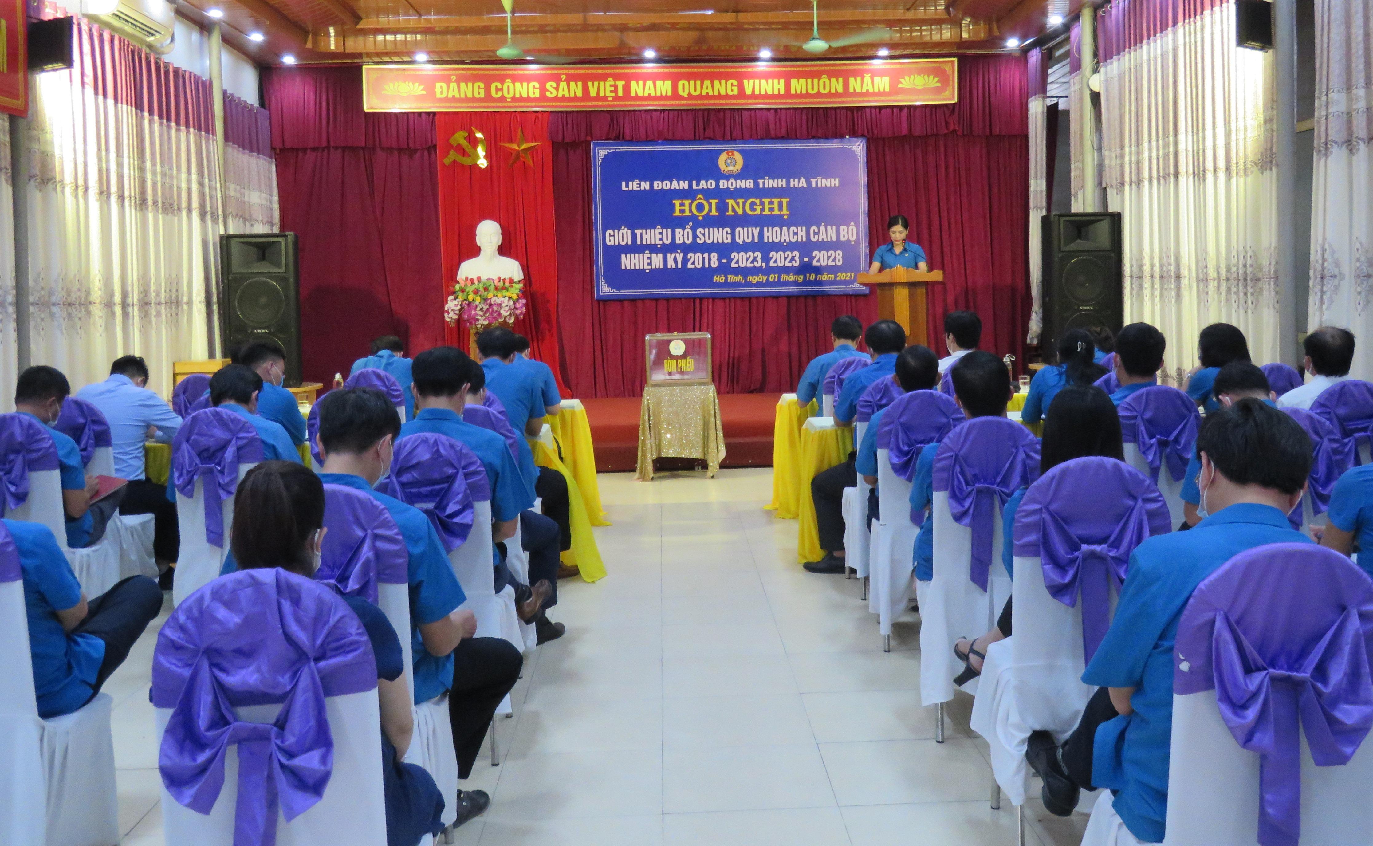 Liên đoàn Lao động tỉnh: Sơ kết hoạt động Công đoàn Quý III/2021 và rà soát, bổ sung quy hoạch cán bộ thuộc diện Ban Thường vụ Tỉnh ủy quản lý