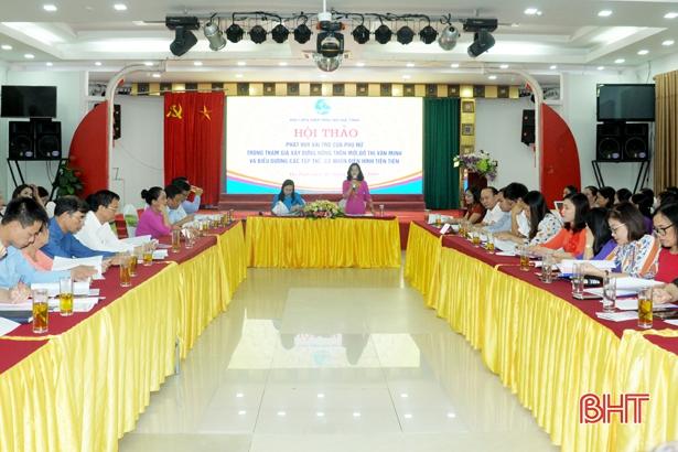 Hà Tĩnh biểu dương 63 tập thể, cá nhân nữ tiêu biểu trong xây dựng nông thôn mới, đô thị văn minh