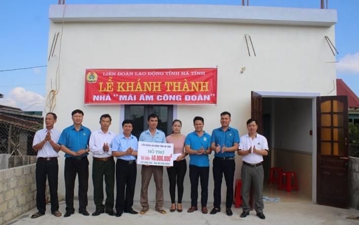 LĐLĐ Hà Tĩnh: Hỗ trợ 160 triệu đồng làm 5 nhà Mái ấm công...