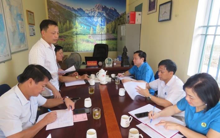 LĐLĐ tỉnh: Làm việc với lãnh đạo xã được đỡ đầu xây dựng...