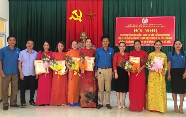 Hương Khê: Sơ kết hoạt động Công đoàn 6 tháng đầu năm và...