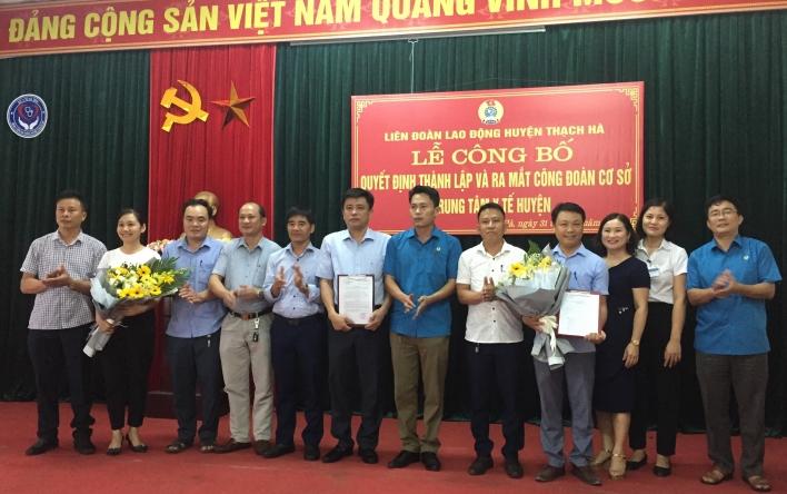 Lễ Công bố ra mắt Công đoàn Trung tâm Y tế huyện Thạch Hà