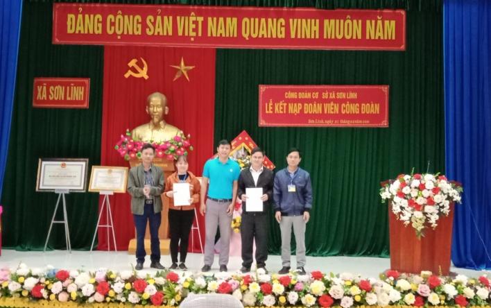 Công đoàn cơ sở xã Sơn Lĩnh: Nhiều hoạt động thiết thực...