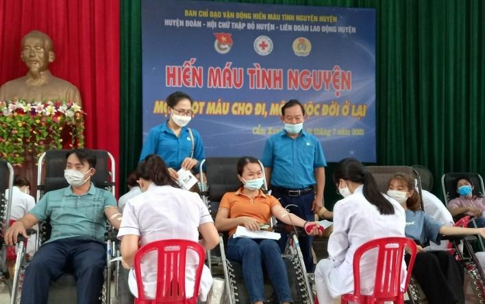 Cẩm Xuyên: Sôi nổi ngày hội hiến máu tình nguyện lần thứ...